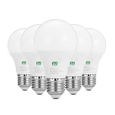 YWXLIGHT® 5pçs 7W 600-700lm E26 / E27 Lâmpada Redonda LED 14 Contas LED SMD 2835 Decorativa Branco Quente Branco 100-240V