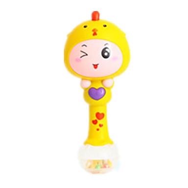 Chocalho de bebê Brinquedo Educativo Forma Cilindrica Plástico Crianças Unisexo Dom
