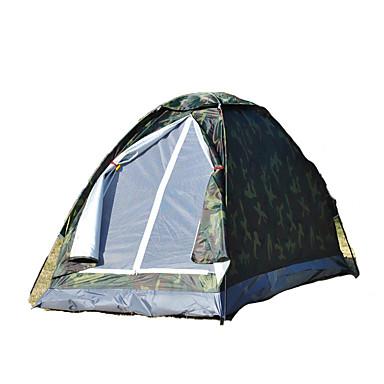 1 사람 텐트 싱글 캠핑 텐트 원 룸 접이식 텐트 수분 방지 방수 비 방지 통기성 용 하이킹 캠핑 야외 여행 1000-1500 mm 유리섬유 옥스퍼드 CM