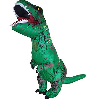 Dinossauro Fantasias de Cosplay Impermeável Fantasia Inflável Artigos de Halloween Cosplay de Filmes Collant / Pijama Macacão Ventilador