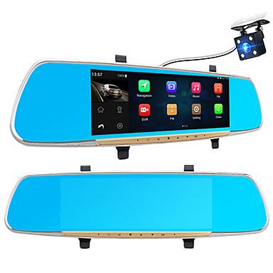 1080p / plin HD 1920 x 1080 detectare a mișcării / mașină dvr 170 grade unghi larg 7 inch ips cam pană cu vizor pe timp de noapte recorder auto / g-sensor