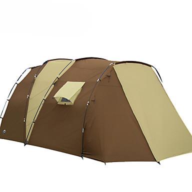 7 شخص خيمة الكاميرا في الهواء الطلق مقاوم للماء مكتشف الأمطار مكتشف الرطوبة طبقات مزدوجة خيمة التخييم غرفتين 2000-3000 mm إلى تخييم السفر الخارج ألياف الزجاج XPE
