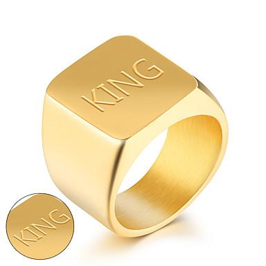 Presente personalizado Anéis Aço Inoxidável Homens Negócio Modern