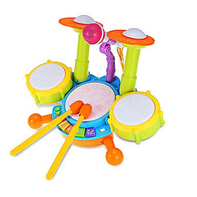 Iluminação de LED Bateria Instrumento Musical de Brinquedo Bateria Jazz Drum Crianças