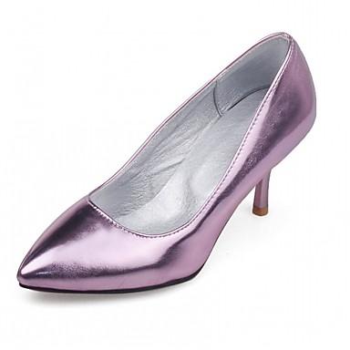 Mulheres Sapatos Courino Couro Ecológico Verão Outono Conforto Inovador Sapatos clube Sapatos formais Saltos Caminhada Salto Agulha Dedo