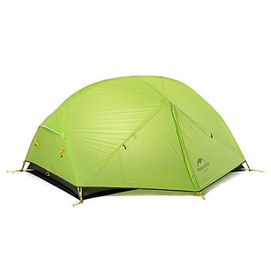 Naturehike 2 Pessoas Tenda Duplo Barraca de acampamento Ao ar livre Barracas de Acampar Leves Portátil A Prova de Vento Á Prova-de-Chuva