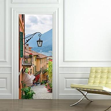 경치 벽 스티커 3D 월 스티커 데코레이티브 월 스티커, 비닐 홈 장식 벽 데칼 벽