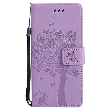 Capinha Para Samsung Galaxy S8 Plus / S8 Carteira / Porta-Cartão / Com Suporte Capa Proteção Completa Gato / Árvore Rígida PU Leather para S8 Plus / S8 / S7 edge