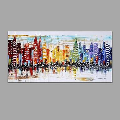 Handgemalte Landschaft Horizontal, Modern Europäischer Stil Segeltuch Hang-Ölgemälde Haus Dekoration Ein Panel