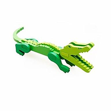 voordelige 3D-puzzels-3D-puzzels Steekpuzzels Houten modellen Krokodil Plezier Hout Klassiek Kinderen Unisex Speeltjes Geschenk
