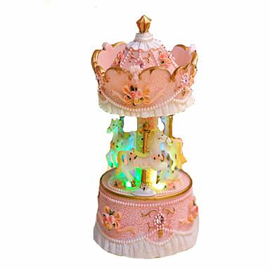 Caixa de música Carrossel Merry Go Round Fofinho Iluminação Brilha no Escuro Crianças Adulto Infantil Dom Unisexo