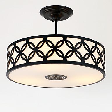 3-luz Montagem do Fluxo Luz Ambiente - Estilo Mini, 110-120V / 220-240V Lâmpada Não Incluída / 15-20㎡ / E26 / E27