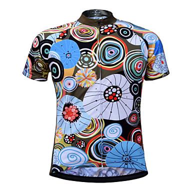 JESOCYCLING Homens Manga Curta Camisa para Ciclismo Moto Camisa / Roupas Para Esporte, Secagem Rápida, Respirável, Resistente a UV / Com Stretch / Redutor de Suor