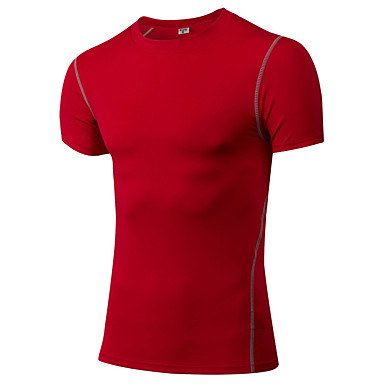 Men's Running Baselayer Running T-Shirt Short Sleeves Fitness, Running & Yoga Compression Clothing for Yoga Exercise & Fitness Leisure