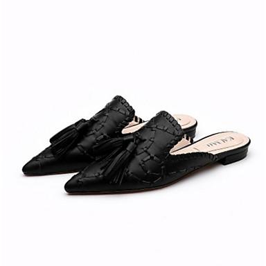 여성 구두 PU 여름 슬링백 샌들 제품 캐쥬얼 블랙 브라운