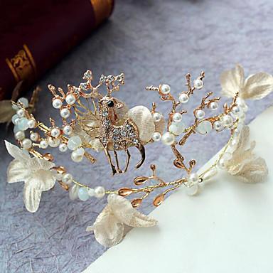 Imitação de Pérola Strass Liga Tiaras Headbands 1 Casamento Ocasião Especial Casual Ao ar livre Capacete