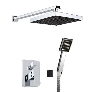 Bateria Prysznicowa - Modern / Contemporary Chrom Budowa prysznica Zawór ceramiczny