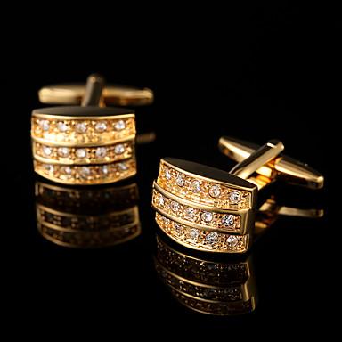 Forma Geométrica Dourado Botões de Punho Cobre Clássico Fashion Caixas de presente e Bolsas Festa Negócio/Cerimônia/Casamento Homens