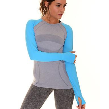 Ioga Camiseta Blusas Secagem Rápida Respirável Suave Confortável Elasticidade Alta Moda Esportiva Ioga Pilates Exercício e Atividade
