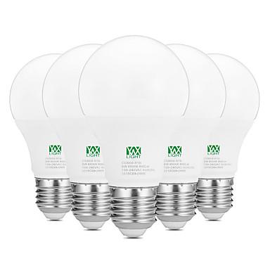 YWXLIGHT® 5pçs 9W 800-900lm E26 / E27 Lâmpada Redonda LED 18 Contas LED SMD 2835 Decorativa Branco Quente Branco 100-240V
