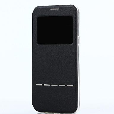 Capinha Para Samsung Galaxy S8 Plus S8 com Visor Flip Smart Touch Capa Proteção Completa Côr Sólida Macia PU Leather para S8 Plus S8
