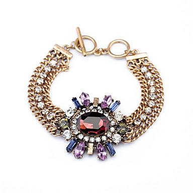 Dámské Řetězové & Ploché Náramky příroda Módní Štras Slitina Round Shape Šperky Pro Párty Maturita
