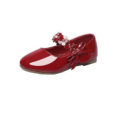 Para Meninos sapatos Courino Primavera Outono Conforto Rasos Apliques Velcro para Casamento Casual Escritório e Carreira Ao ar livre