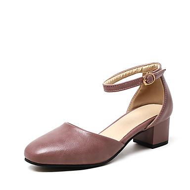 Mulheres Sapatos Courino Verão D'Orsay Sandálias Salto Robusto Ponta Redonda Presilha Vazados para Casamento Festas & Noite Social Preto