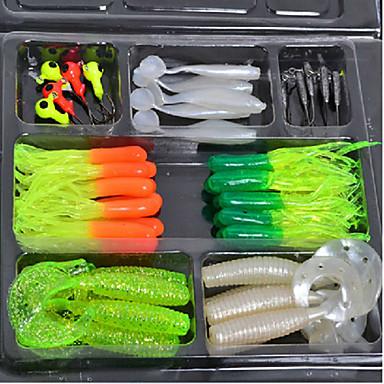 billige Fiskelokkere og -fluer-2 pcs Blød Madding Lokkepakker Blink Blød Madding Plast Synkende Madding Kastning