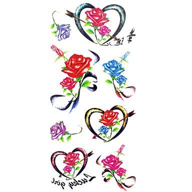 1 패턴 허리 아래 Waterproof 꽃 시리즈 타투 스티커