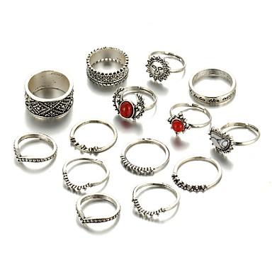 للمرأة خاتم - سبيكة تصميم فريد, قديم, موضة قياس واحد فضي من أجل زفاف حزب يوميا