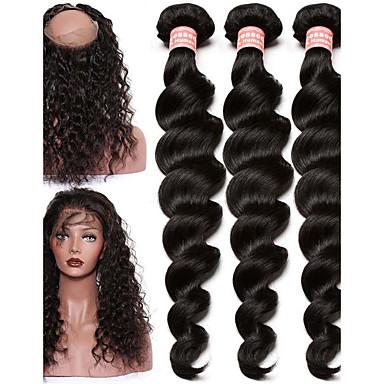Cabelo Brasileiro Ondulação Larga Cabelo Virgem Um Pacote de Solução Tramas de cabelo humano 8a Extensões de cabelo humano