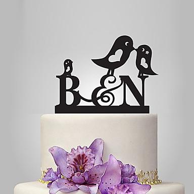 Decorações de Bolo Tema Jardim / Tema Clássico / Tema Fadas Monograma Acrílico Casamento / Aniversário / Chá de Cozinha com PPO