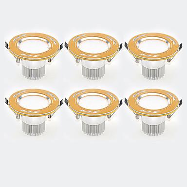 3W 6 LEDs Instalação Fácil Encaixe Downlight de LED Branco Quente Branco Frio 85-265V Garagem Dispensa Corredor / Escadas Banheiro Quarto