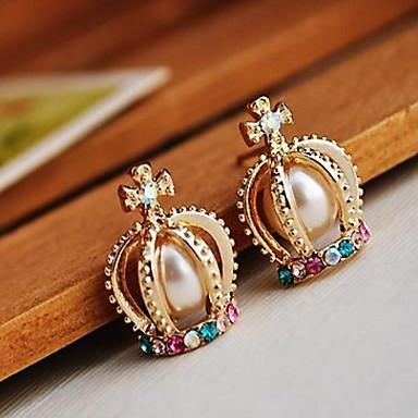 Pánské Dámské Peckové náušnice Visací náušnice Imitace perly imitace drahokamu Přizpůsobeno Luxus Geometrik Kruhy Jedinečný design Visací