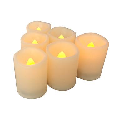 Conjunto de 6 velas sem chama velas votivas sem chama led votives com temporizador bateria-operado velas led com tempo de duração da