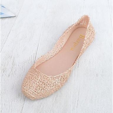 Damen Schuhe PU Sommer Fersenriemen Sandalen Für Normal Schwarz Mandelfarben