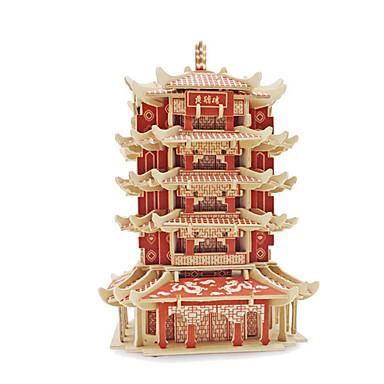 3D퍼즐 직쏘 퍼즐 조립 완구 키트 유명한 빌딩 건축 3D 나무 중국 스타일