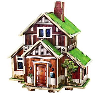 voordelige 3D-puzzels-3D-puzzels Modelbouwsets Houten modellen Huis Plezier Hout 1 pcs Klassiek Kinderen Speeltjes Geschenk