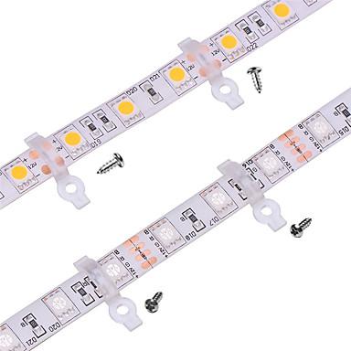 100 pacote-clipe de suporte de luz de montagem para silicone ao ar livre coberto 10mm de largura pcb tiras smd5050 levou à prova d 'água