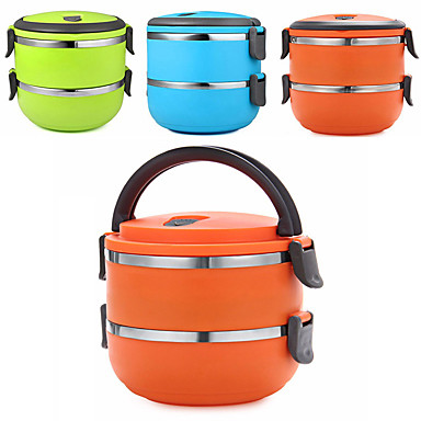 Buy Portable Double Layer Insulation Bento Lunch Box Stainless Steel Leakproof Seal Heat Preservation