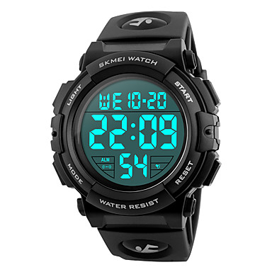 levne Vojenské hodinky-SKMEI Pánské Sportovní hodinky Vojenské hodinky Náramkové hodinky japonština Silikon Černá / Modrá / Stříbro 50 m Voděodolné Alarm Kalendář Digitální Módní - Červená Zelená Modrá Dva roky Životnost