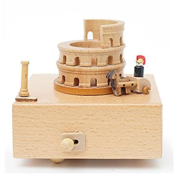 Caixa de música Madeira Quadrada O Castelo no Céu Presente Unisexo Dom
