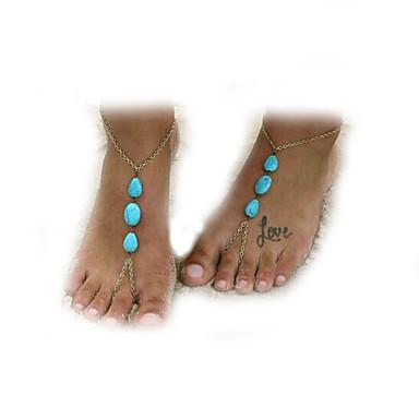 Femme Bracelet de cheville / Bracelet Émeraude Alliage Européen Bracelet de cheville Bijoux Pour Quotidien Décontracté Plage