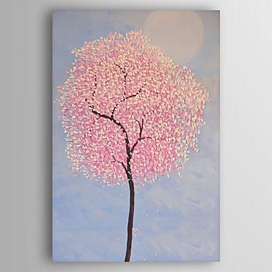 Pintados à mão Floral/Botânico Vertical, Modern Tela de pintura Pintura a Óleo Decoração para casa 1 Painel