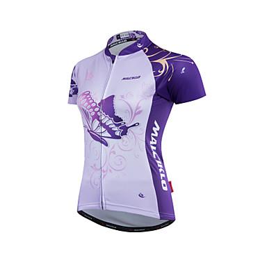 Malciklo Mulheres Camisa para Ciclismo Moto Camisa/Roupas Para Esporte Conjuntos de Roupas Poliéster