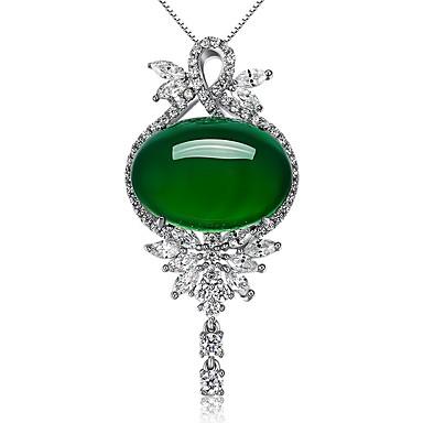 Naisten Muuta Muoto Euramerican Muoti minimalistisesta Riipukset Synteettinen Emerald Smaragdi Metalliseos Riipukset Häät Party