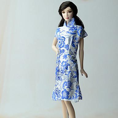 Étnico Vestidos Para Boneca Barbie Renda Organza Algodão Vestido Para Menina de Boneca de Brinquedo