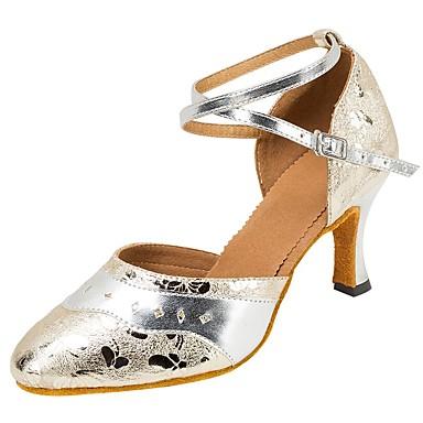 Mulheres Moderna Sandália Salto Profissional Presilha Rendado Salto Personalizado Prata 1