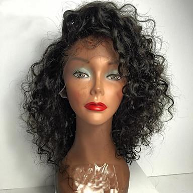 Echthaar Vollspitze Perücke Brasilianisches Haar Wasserwellen Mit Strähnen 130% Dichte 100 % von Hand geknüpft Afro-amerikanische Perücke